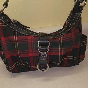 Chaps small plaid bag